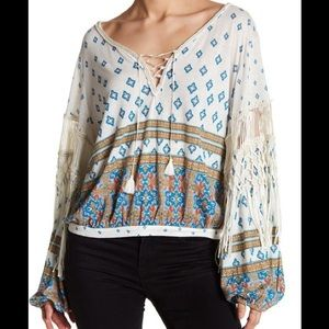 Free People Macra Maze Me Top Size Small